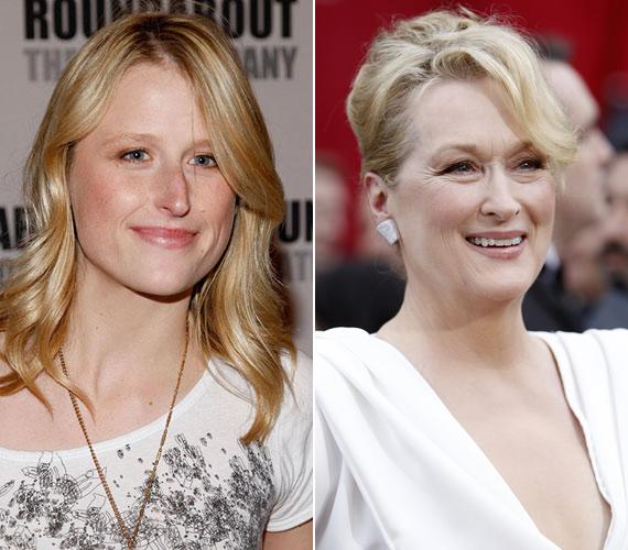 Meryl Streep lányai szerencsésen örökölték anyjuk különleges szépségét és báját, Mamie szinte a megszólalásig hasonlít sztármamájára.