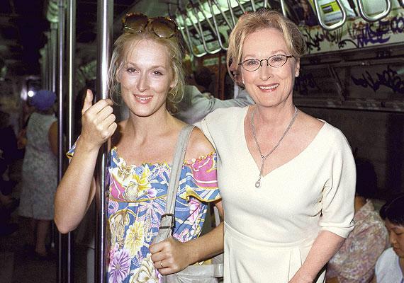 Meryl Streep 1980-ban és most. A színésznő akkor 31 éves volt, és a Kramer kontra Kramer filmért megkapta első Oscar-díját.