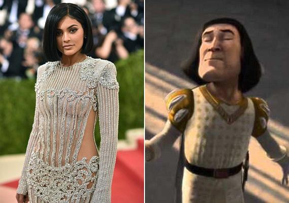 Kylie Jennert is a haja miatt érte a kritika: bubifrizurájával sokak szerint úgy festett, mint Farquaad nagyúr a Shrek szériában.