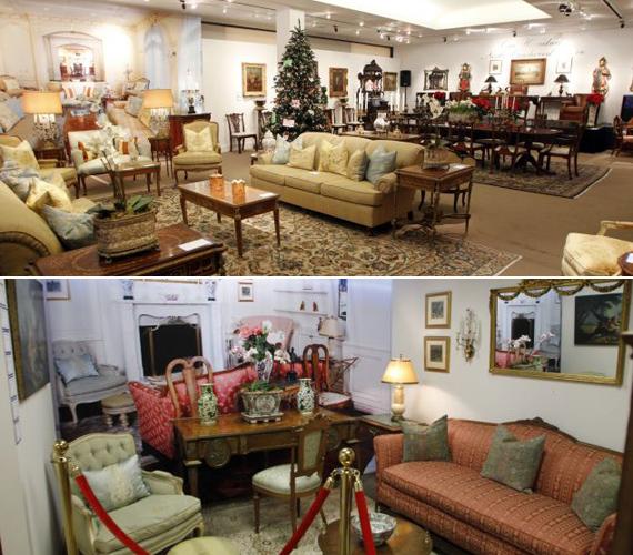 A 100 North Carolwood Drive címen található lakás számos bútora kalapács alá került az aukció során.