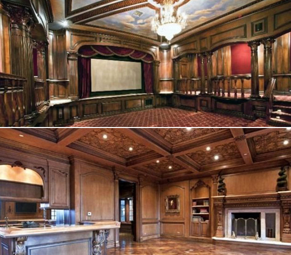A házhoz hét hálószoba, színházterem, uszoda és borospince is tartozik.