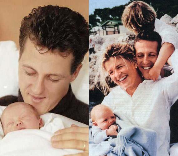 Schumacher imádja a családját, akik most, a bajban el sem mozdultak ágya mellől.