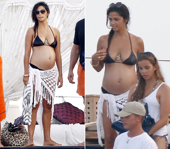 Matthew McConaughey feleségét Ibizán kapták le a lesifotósok tavaly augusztus végén. Camila Alves 2012. december 28-án hozta világra harmadik gyerekét, Livingstont.