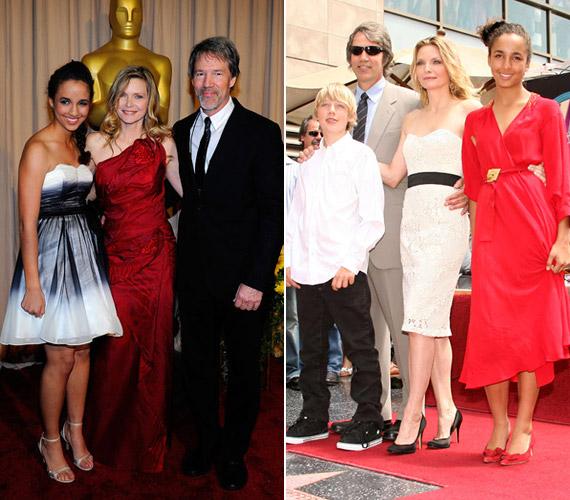 Az Oscar-gálára is elkísérte szüleit a barna szépség, amikor pedig Michelle Pfeiffer csillagot kapott a Hírességek Sétányán, az egész család vele örült.