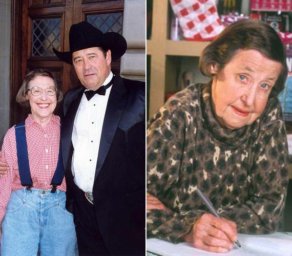 Az özvegy Ruth-Anne-t Peg Phillips játszotta el, a színésznő viszonylag későn, 67 évesen állt először felvevőgép elé, a Miért éppen Alaszka? az első szerepei egyike volt. 2000-ben, egy Vészhelyzet-epizódban láthatták utoljára a nézők, az erős dohányos sztár 2002-ben, 84 éves korában hunyt el tüdőrákban.