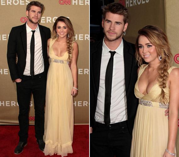 Az eseményre kedvese, Liam Hemsworth is elkísérte.