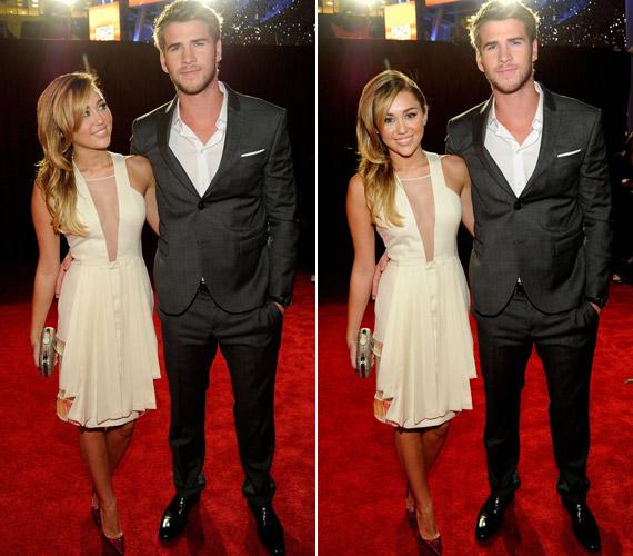 A gálára pasija, Liam Hemsworth kíséretében érkezett.