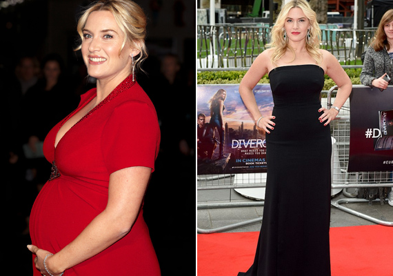 Kate Winslet 2013 decemberében szülte meg kisfiát, de áprilisban A beavatott premierjére már ismét karcsún érkezett.