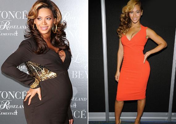 Beyoncé 2012 januárjában adott életet kislányának, Blue Ivynak. 28 kiló szaladt fel rá, azonban öt hónap alatt le is adta, májusban már ilyen vékonyan pózolt a kameráknak.