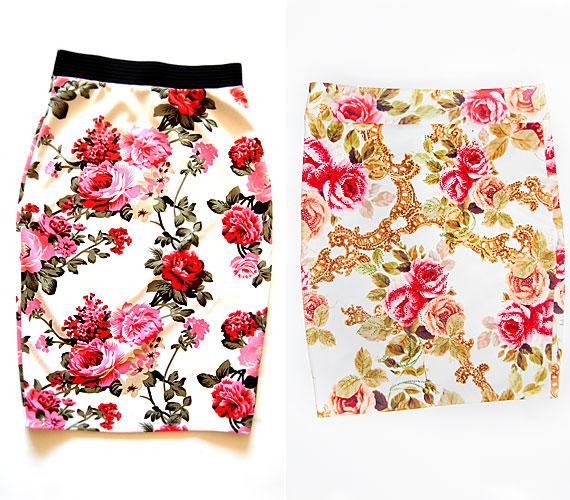 Ezekben a rózsás szoknyákban te is olyan divatos lehetsz, mint a hollywoodi hírességek.Keresd őket az AsiaCenterben - a bal oldali szoknya 2600 forintba, míg a jobb oldali 11 900 forintba kerül.