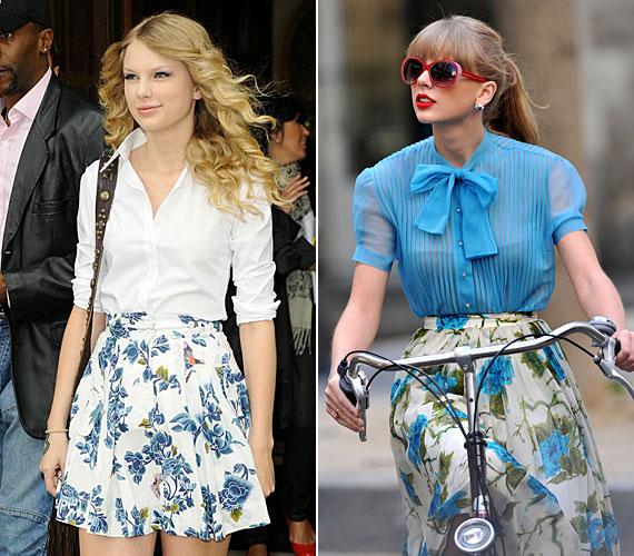 Taylor Swift mindig nagyon trendi, így érdemes őt figyelni, hogy mit mivel kombinál.