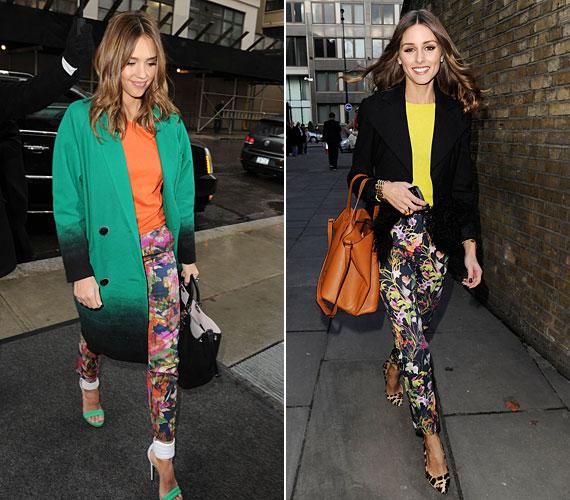 Jessica Alba és Olivia Palermo stílusérzékét a legnagyobb divatguruk sem vonják kétségbe. A virágos nadrágokat is hibátlanul viselik, így érdemes tanulni tőlük!