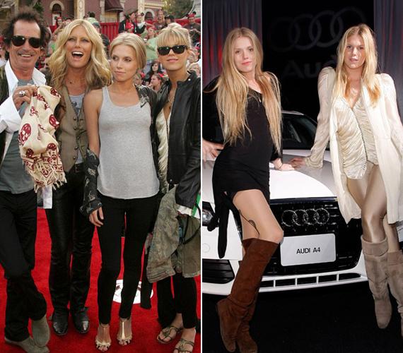 A Rolling Stones együttes zenészének, Keith Richardsnak és Patti Hansennek mindkét lánya, Theodora és Alexandra is modellként kezdett el dolgozni.