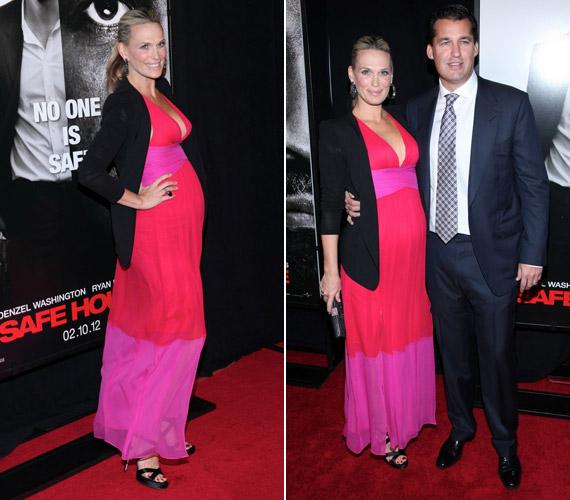 A színésznő férjével, Scott Stuberrel érkezett a premierre.
