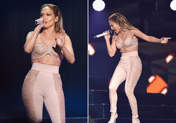 Jennifer Lopeznek mindenhol bevágott ez a nadrág. Az énekesnő a tavalyi Billboard Latin Music Awards gálán viselte ezt a ruhadarabot.