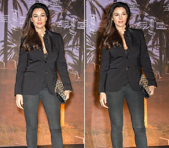 Decemberben a marrakech-i filmfesztiválon vett részt, ahová egy passzos nadrágot és egy blézert választott.