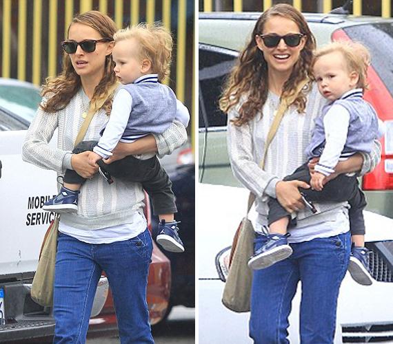 A színésznő bájos kisfia szőkeségét és arcformáját is az édesapjától örökölte, de a mamára is hasonlít.