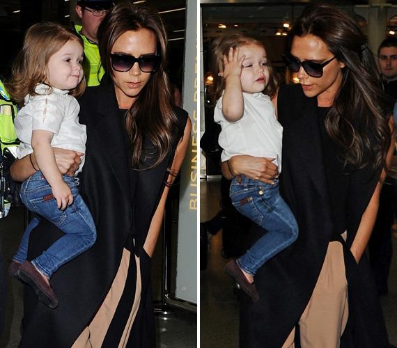 Victoria Beckham legkisebbik gyermeke egyre szebb lesz. A kislány külsejére már most nagy hangsúlyt helyez a sztármama, mindketten a legdivatosabb ruhákban lépnek csak utcára.