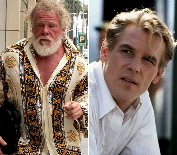 A hajléktalan Mikulás-forma nem áll kifejezetten jól az egykor sármos színésznek.