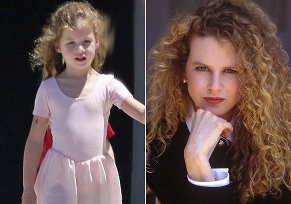 Le sem tagadhatná kislányát Nicole Kidman. A kis Faith nemcsak a haját örökölte az édesanyjától: vonásaik is szinte teljesen megegyeznek.