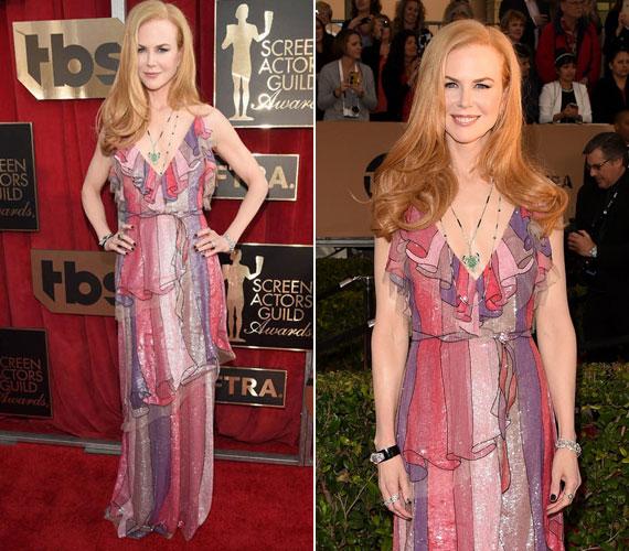 Mintha a nagymamája függönyét húzta volna magára Nicole Kidman: ezzel a Gucci kreációval nagyon melléfogott, és a kiegészítők sem illettek ruhájához.