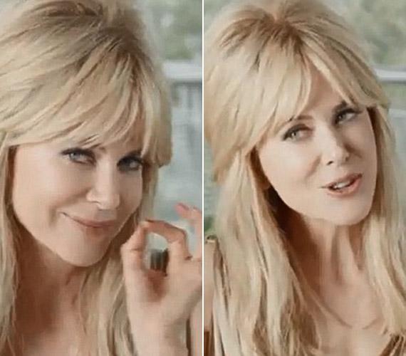 Vonásai annyira megváltoztak, hogy kis időbe biztosan beletelik, mire az ember észreveszi, a szőke nő nem más, mint Nicole Kidman.