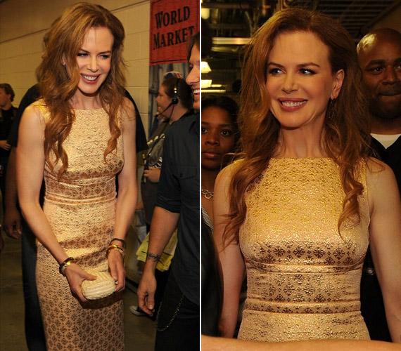 Nicole Kidman talpig aranyban érkezett a díjátadóra - a sztár 44 évesen, anyaként is légiesen karcsú.