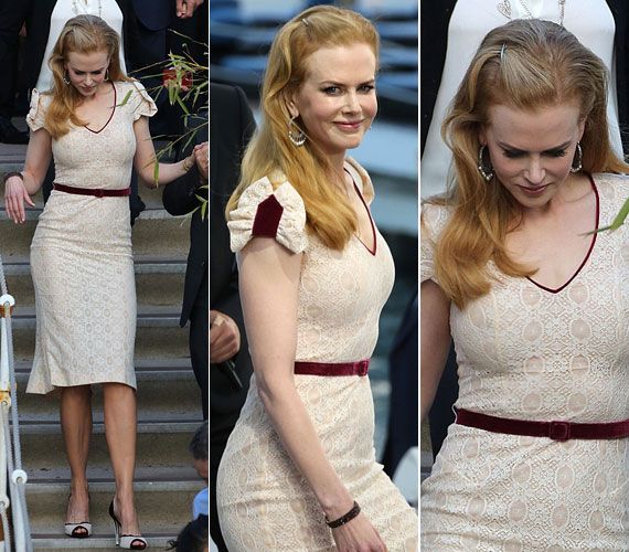 Május 23-án ebben a csinos L'Wren Scott ruhában kapták lencsevégre.