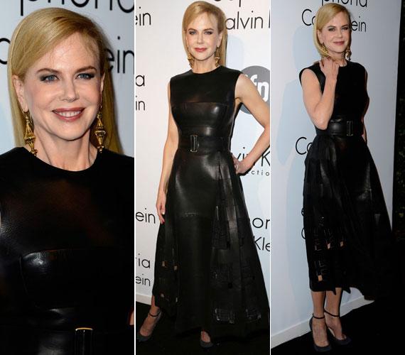 Ebben a Calvin Klein bőrruhában is meghökkentette a közönséget, sok újság azt írta, úgy nézett ki benne, mint egy pozitív értelemben vett domina.