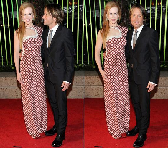 A színésznő az 59. alkalommal megrendezett díjátadón férjével, Keith Urbannal jelent meg.