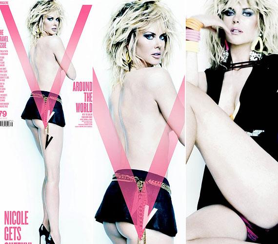 A V magazinnak még ennél is többet mutatott: a képeken szinte az egész fenekét látni lehetett.