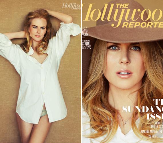 Az egyik fotón Nicole Kidman bájait csupán egy lenge ing és egy fehérnemű takarta.
