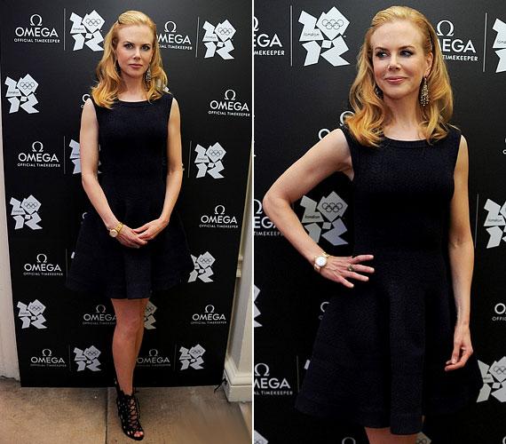 A ruha a maga egyszerűségében is csinos, habár más színben jobban állt volna a 45 éves színésznőnek.