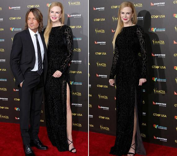 Nicole Kidman egy feketeAltuzarra ruhában jelent meg az eseményen.