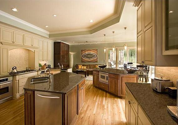 A jól felszerelt, tágas konyha sem hiányozhat a házból - Nicole Kidman szívesen hívja meg barátait saját főztjére.