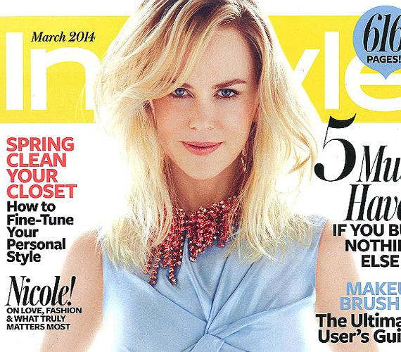 A színésznő az InStyle magazin márciusi számának címlapján szerepel.