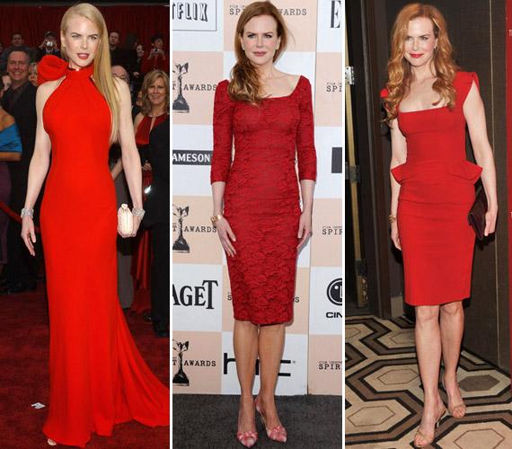 Ha épp nem földig érő ruhát választ, a térdig érő darabokat preferálja - a vörös szőnyegen szívesen visel vöröset.