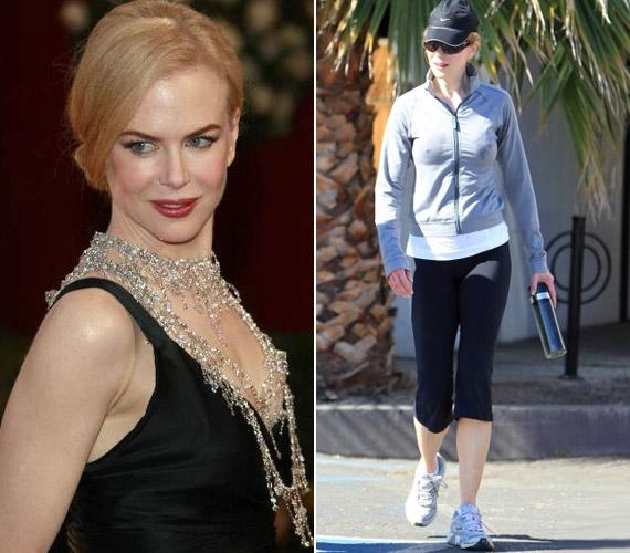 A 44 éves Nicole Kidmant legutóbb nem valamelyik díjátadó gálán, hanem kocogás közben kapták lencsevégre.