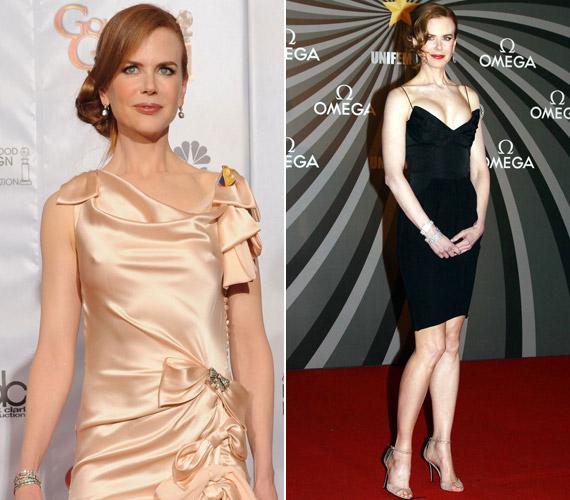 A színésznőt láthatóan nem hozza zavarba, ha ruhája többet mutat a kelleténél.