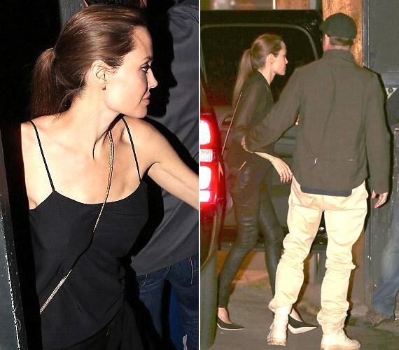 Angelina Jolie szórakozni ment férjével, Brad Pitt-tel, őt is melltartó nélkül kapták lencsevégre.