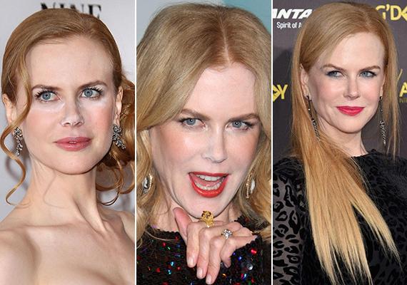 Nicole Kidman arcán gyakran feltűnik a fehér púder, amitől a híresség amúgy is világos bőre még inkább áttetszőnek tűnik.