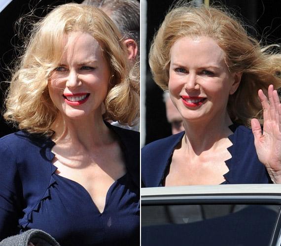 A bájos Nicole Kidman szinte mindig kedvesen fogadja a fotósokat, ezúttal is vidáman mosolygott a kamerába.