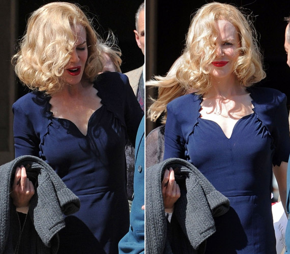 Vörös rúzsával és loknis szőke hajával arca Marilyn Monroe-éra emlékeztetett - bár kevésbé volt dögös, mint az egykori szexbomba.