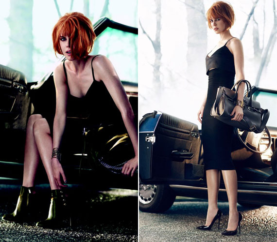 A felvételek a film noir stílust idézik, bevallottan Hitchcock inspirálta őket. Nicole Kidman a képeken igazi femme fatale.