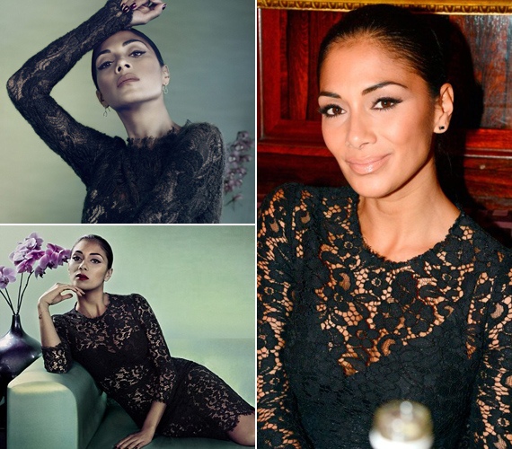 Nemrég ő viselt fekete csipkét: a Marie Claire decemberi címlapján pózolt az áttetsző darabban.