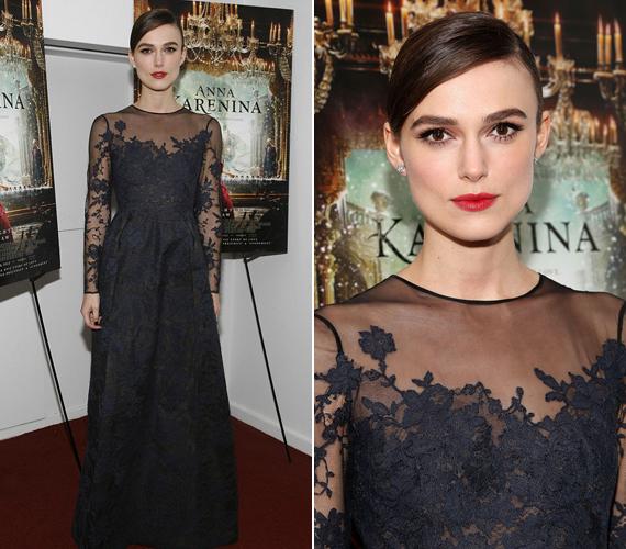 Keira Knightley új kosztümös filmje, az Anna Karenina New York-i bemutatójára bújt ebbe a kreációba.