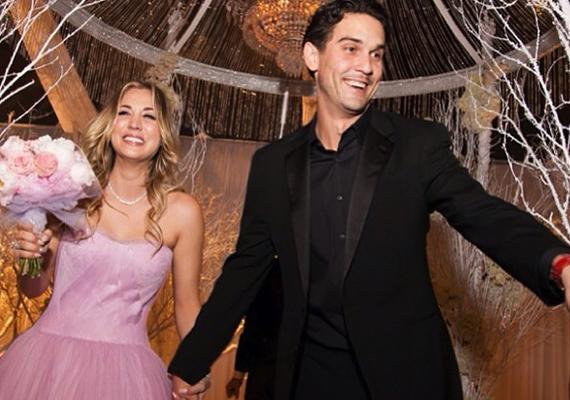 Az Agymenők sztárja, Kaley Cuoco szilveszterkor ment férjhez fél év ismeretség után.