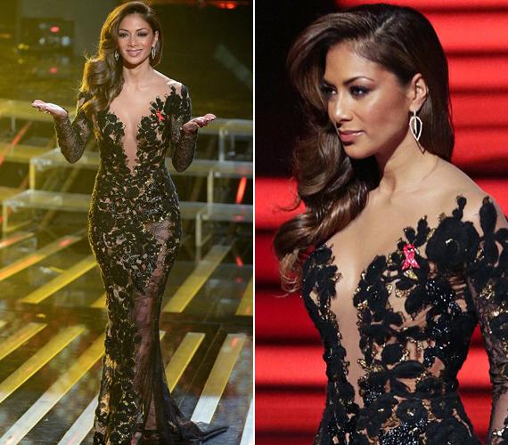 Az X-Factor műsorába nőies, idomait kiemelő ruhákat választott.