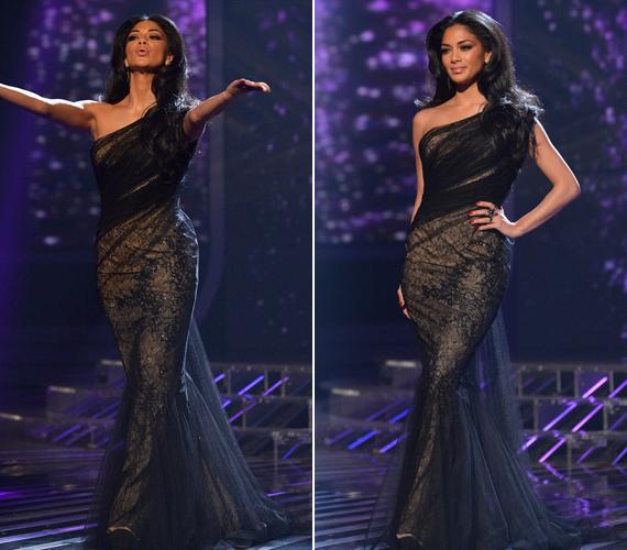 Nicole Scherzinger csodás ruhakölteményét Abed Mahfouz tervezte.