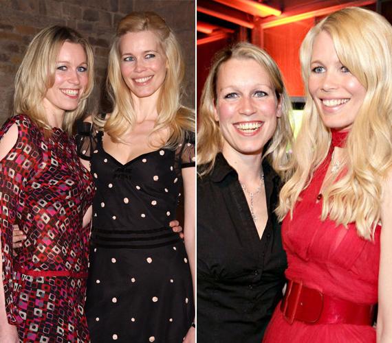 Claudia Schiffer és öt évvel fiatalabb húga, a 38 éves Ann Carolin nagyon hasonlítanak egymásra.